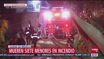 Mueren Siete Niños Durante Incendio Iztapalapa