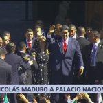 Nicolás Maduro llega a Palacio Nacional para comida con AMLO