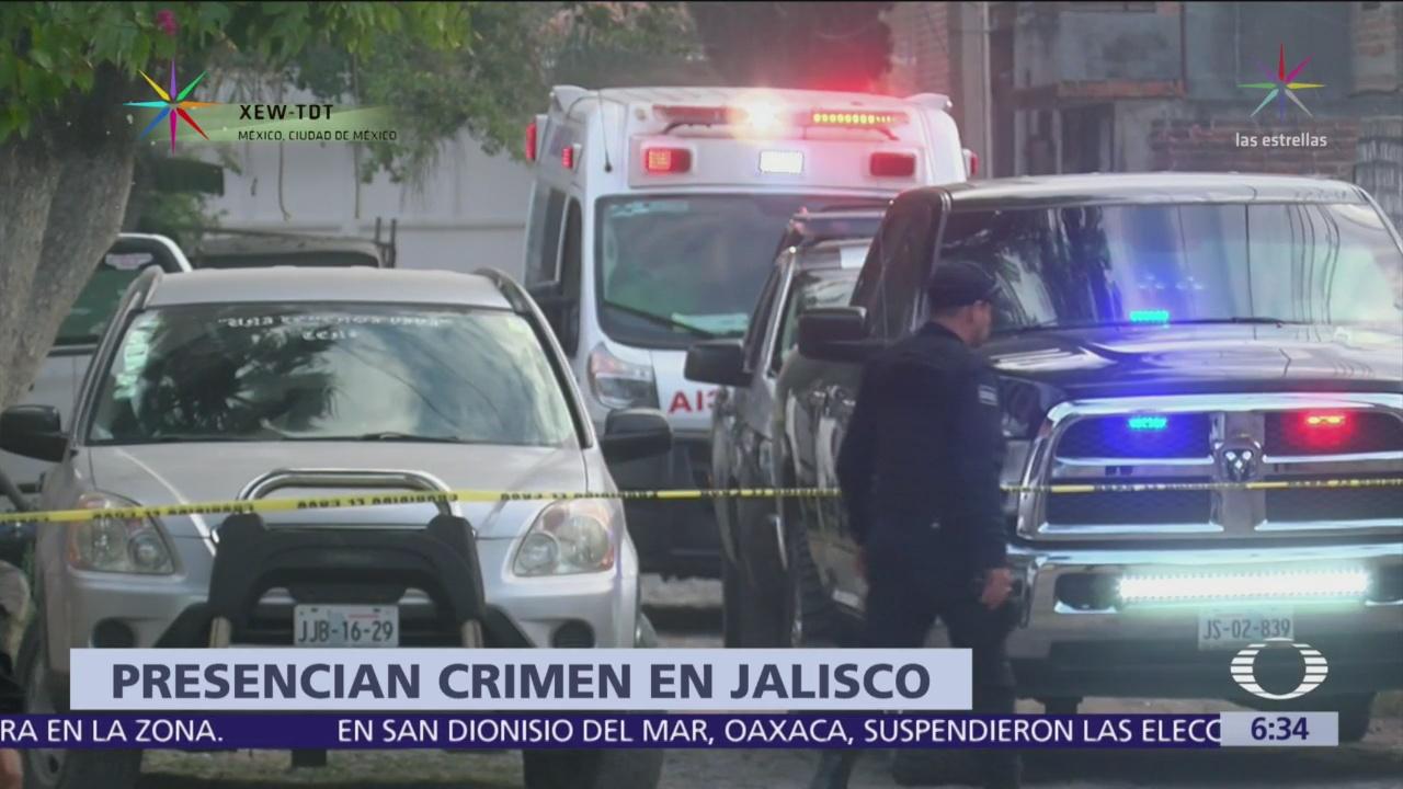 Niñas atestiguan asesinato de su madre en Jalisco