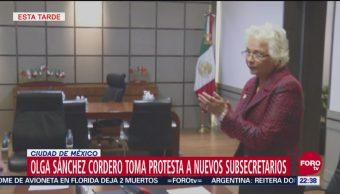 Olga Sánchez Cordero toma protesta a nuevos subsecretarios
