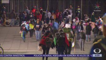 Peregrinos pernoctan en inmediaciones de la Basílica de Guadalupe