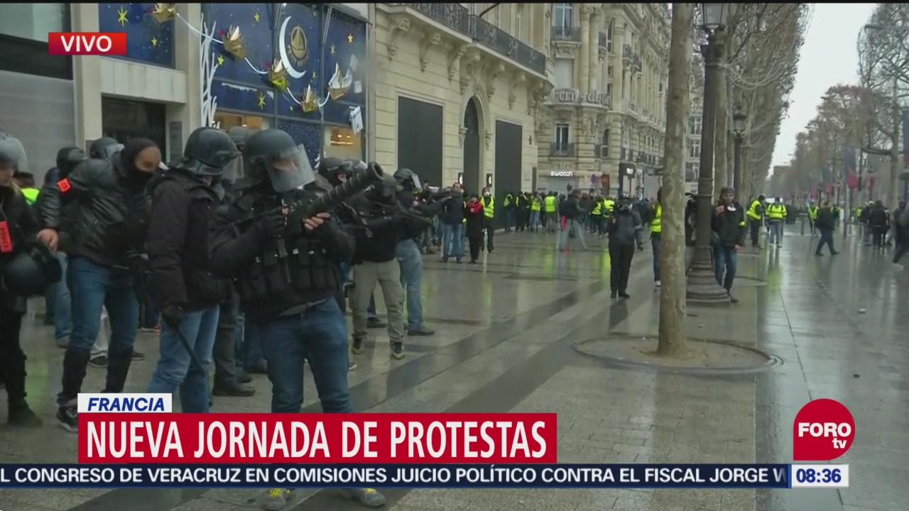 Quinto Sábado Consecutivo Protestas En Francia