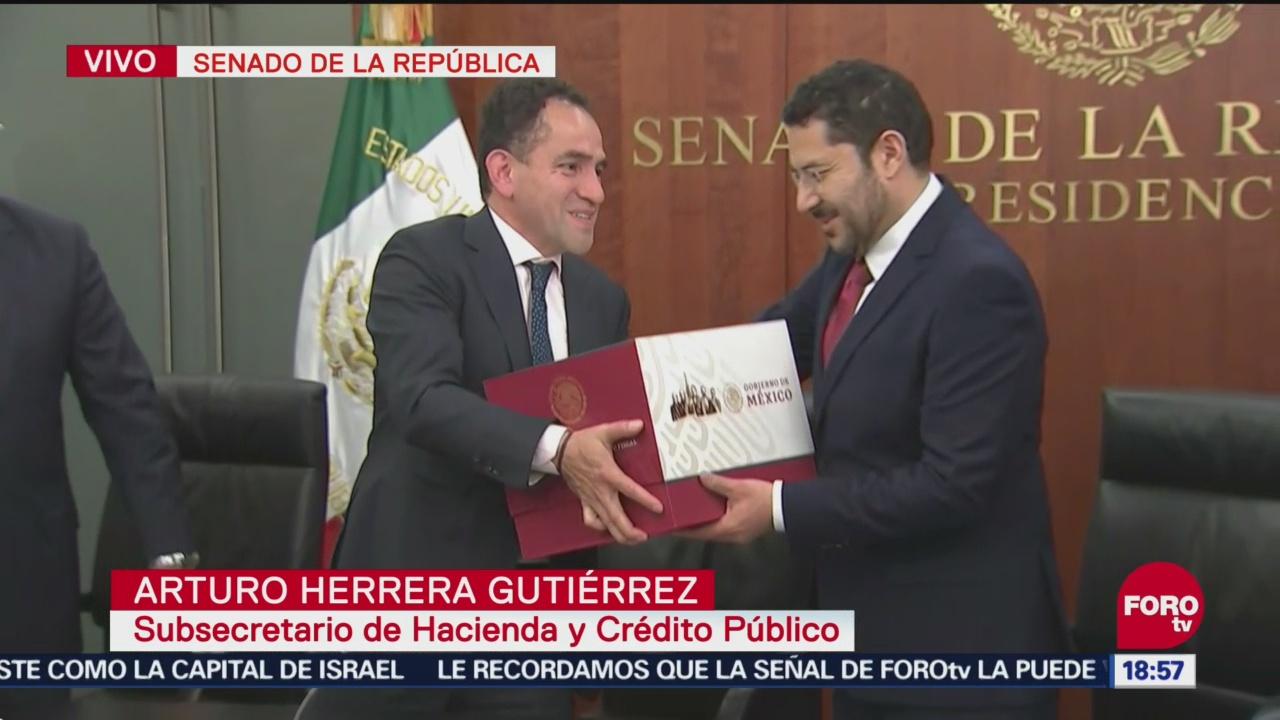 Senado República Recibe Paquete Económico 2019