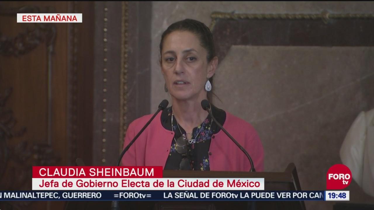 Sheinbaum Toma Protesta Cabildo De Cdmx