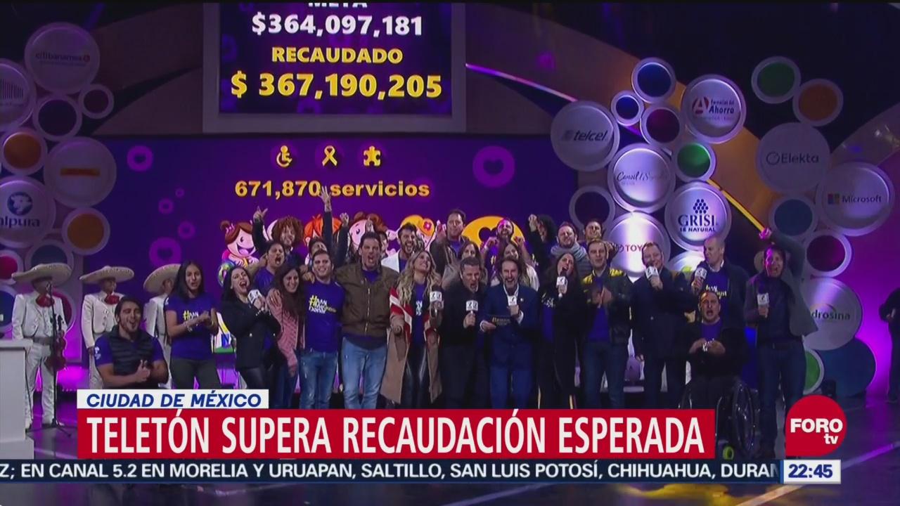 Teletón Supera Recaudación Esperada, Teletón, Solidaridad De Los Mexicanos, Meta De Recaudación, Fundación Televisa