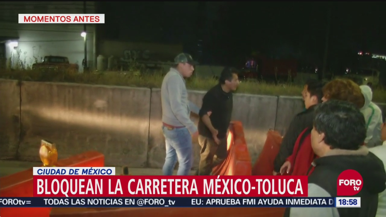Trifulca durante bloqueo en la carretera México-Toluca