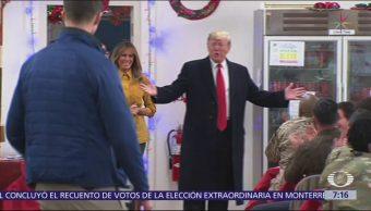 Trump visita a tropas de EU en Irak