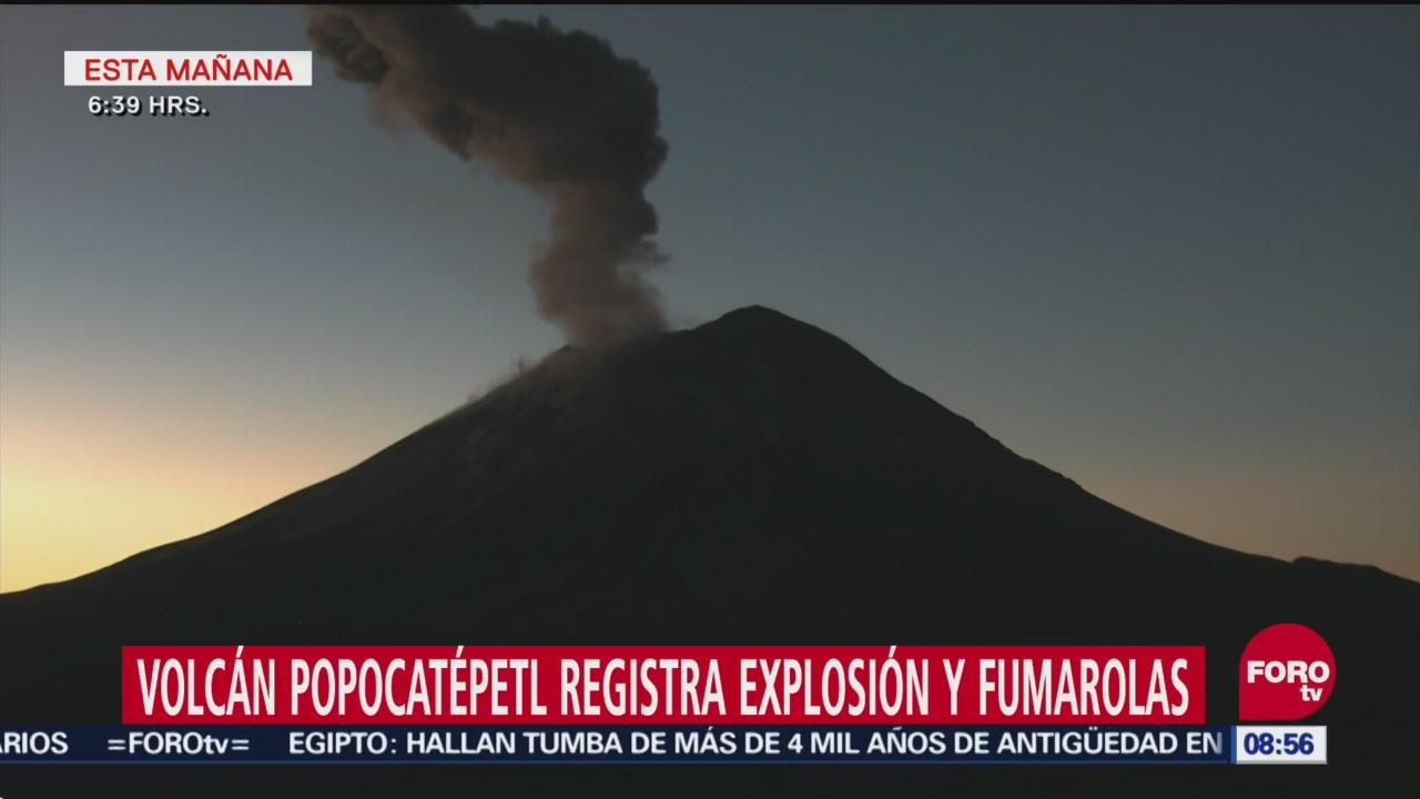 Volcán Popocatépetl Registra Explosión Y Fumarolas Este Domingo, Volcán Popocatépetl, Explosión Y Fumarolas, Domingo