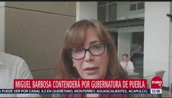 Yeidckol Polevnsky afirma que Barbosa repetirá como candidato en Puebla
