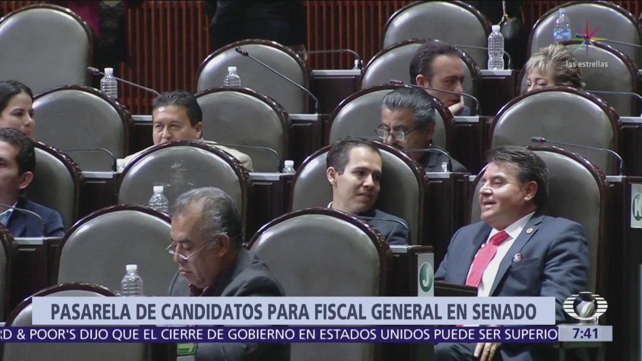 27 candidatos a fiscal general comparecerán hoy y mañana ante senadores