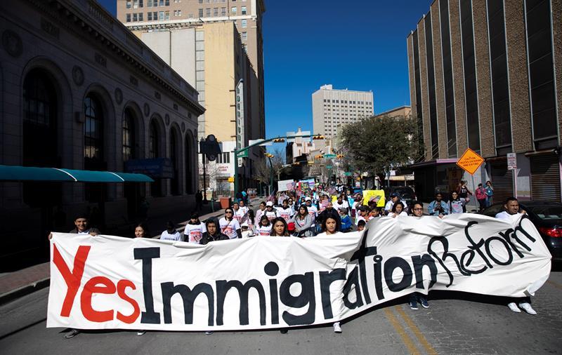 Foto: La marcha fue vigilada por Policía de El Paso, sin que se reportaran incidentes ni detenciones el 27 de enero de 2019