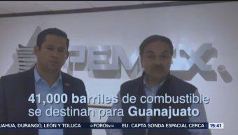 Pemex enviará 41 mil barriles de gasolina a Guanajuato