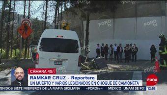Accidente en la México-Toluca deja un muerto