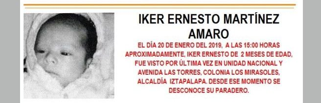 Alerta Amber para localizar a Iker Ernesto