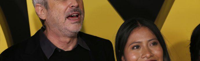Foto Alfonso Cuarón Yalitza Aparicio 25 Enero 2019