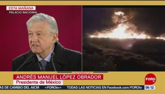 AMLO admite que se pudo evitar tragedia de Tlahuelilpan