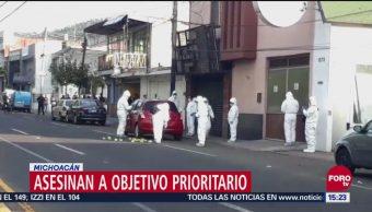 Asesinan a objetivo prioritario en Michoacán