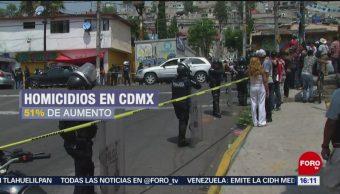Foto: Aumenta 51% los homicidios en la Ciudad de México, 26 enero 2019