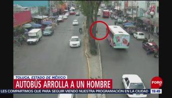 Autobús Atropella Hombre En Toluca Edomex