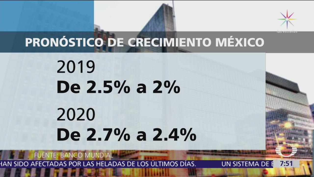 Banco Mundial reduce pronóstico de crecimiento para México