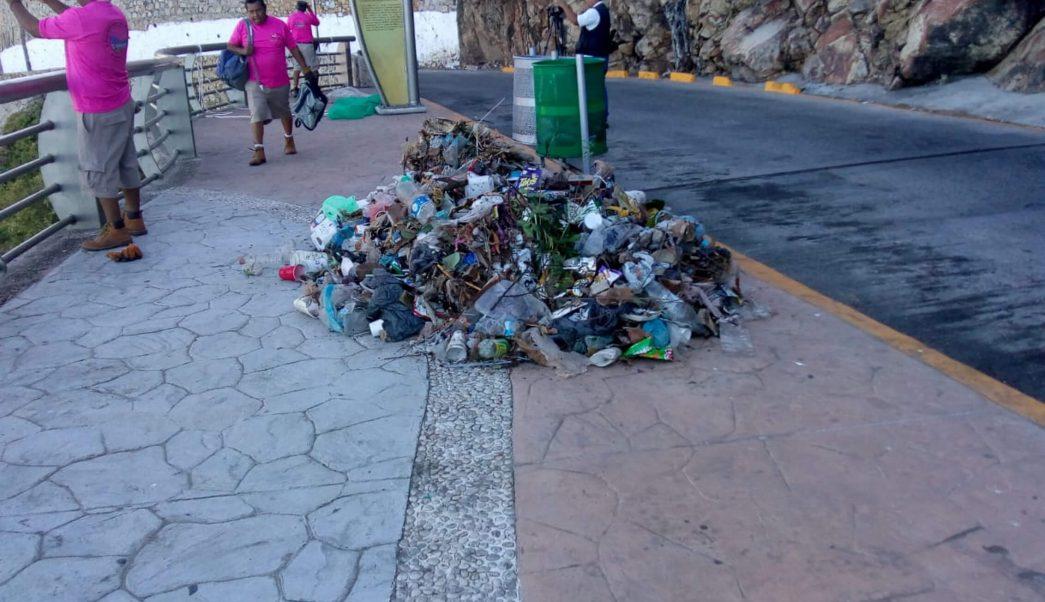 Foto: Recolectan tres toneladas de basura en Acapulco. 30 de enero 2019. Notimex
