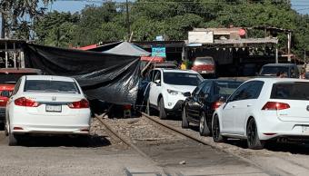 FOTO Silvano Aureoles visita Madrid mientras CNTE bloquea trenes 23 enero 2019 Lázaro Cárdenas, Michoacán