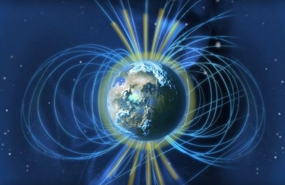 Campo Magnético Tierra Causa Magnetosfera Polo Norte
