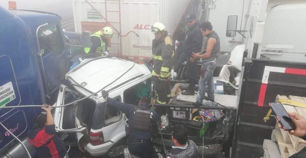 carambola provocada por neblina deja tres muertos en autopista veracruz puebla