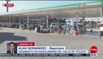 Continúa desabasto de combustible en Metepec, Edomex