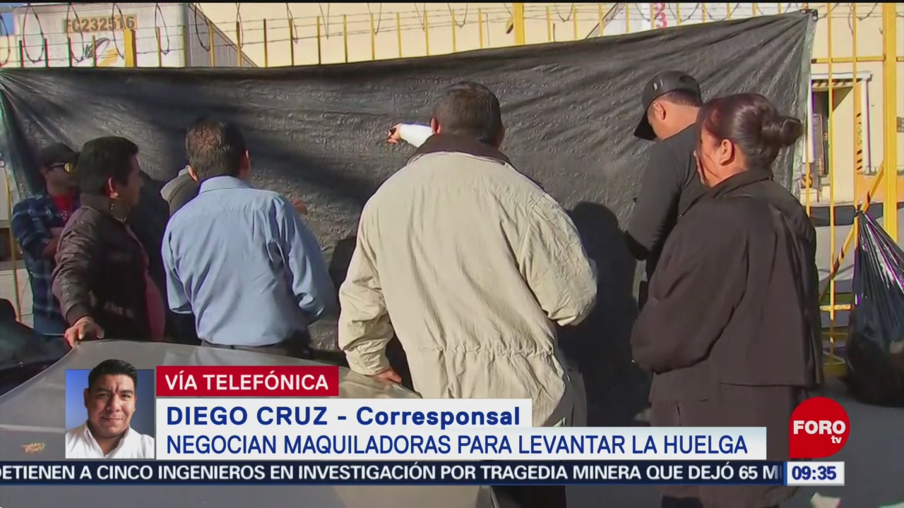 Continúa huelga de maquiladoras en Matamoros, Tamaulipas
