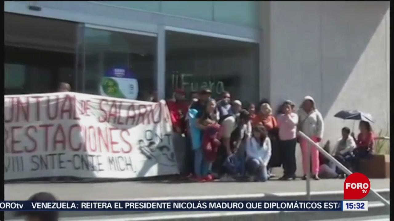 Continúan las protestas de la CNTE en Michoacán