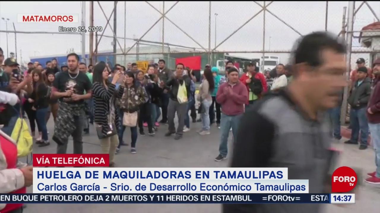 FOTO: Contratos colectivos generaron confusión en maquiladoras de Matamoros,28 enero 2019