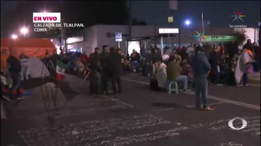 Damnificados Sismo Bloquean Calzada De Tlalpan