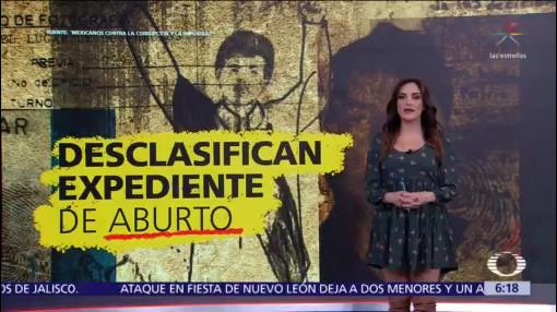 Desclasifican expediente de Mario Aburto