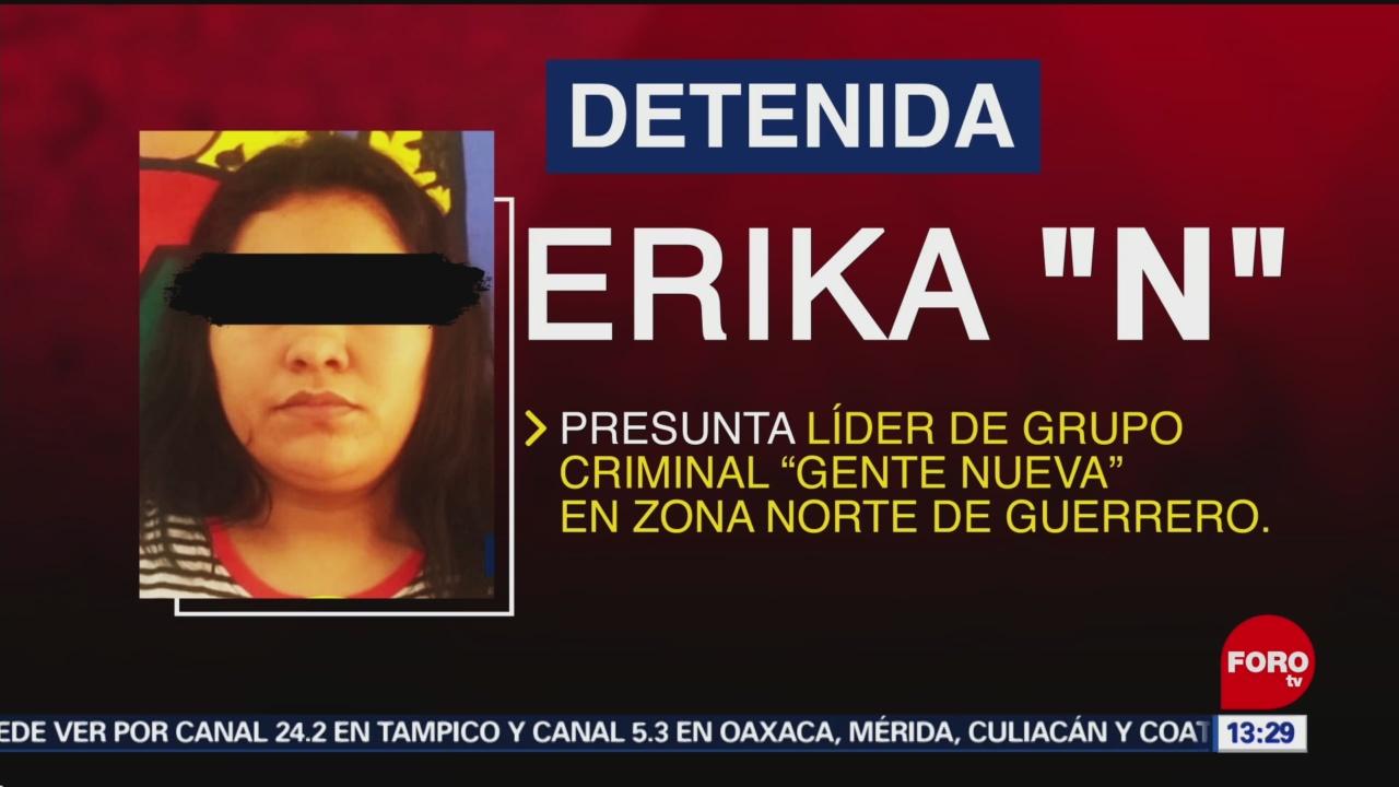 Detienen a presunta líder del grupo criminal 'Gente Nueva'