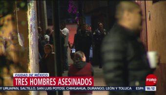 Foto: Ejecutan a 3 personas en la Ciudad de México, 26 enero 2019