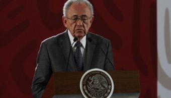 Imagen: El secretario de Comunicaciones y Transportes, Javier Jiménez Espriú, pide al Gobierno de Michoacán resolver conflicto con la CNTE