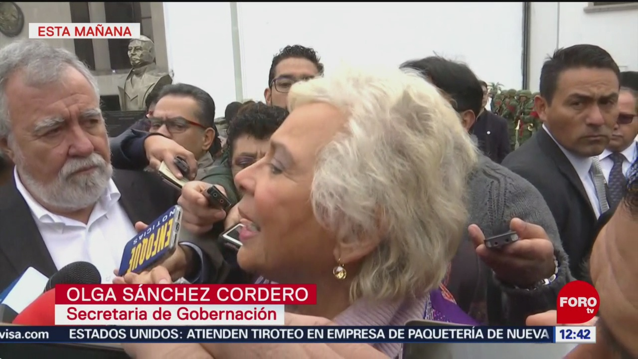Estado mexicano, más fuerte que intereses del huachicol, dice Sánchez Cordero