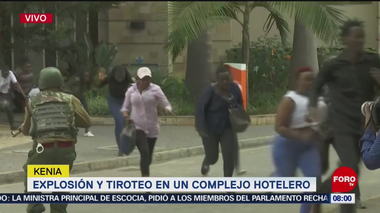 Reportan disparos y explosiones en complejo hotelero de Nairobi, Kenia