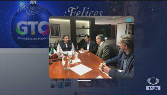 Gobernador de Guanajuato se reúne con director de Pemex