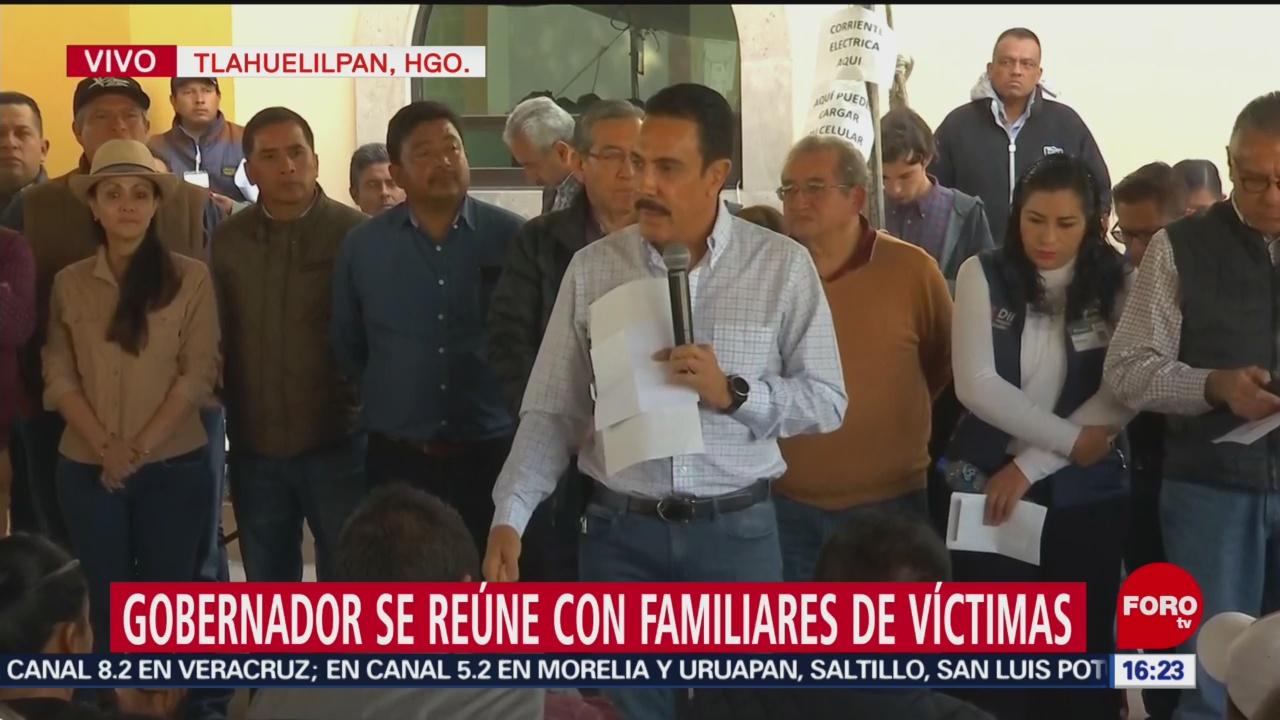 Gobernador De Hidalgo Se Reúne Con Familiares De Víctimas De Tlahuelilpan, Gobernador De Hidalgo, Familiares De Víctimas De Tlahuelilpan, Gobernador De Hidalgo, Omar Fayad, Gastos Funerarios