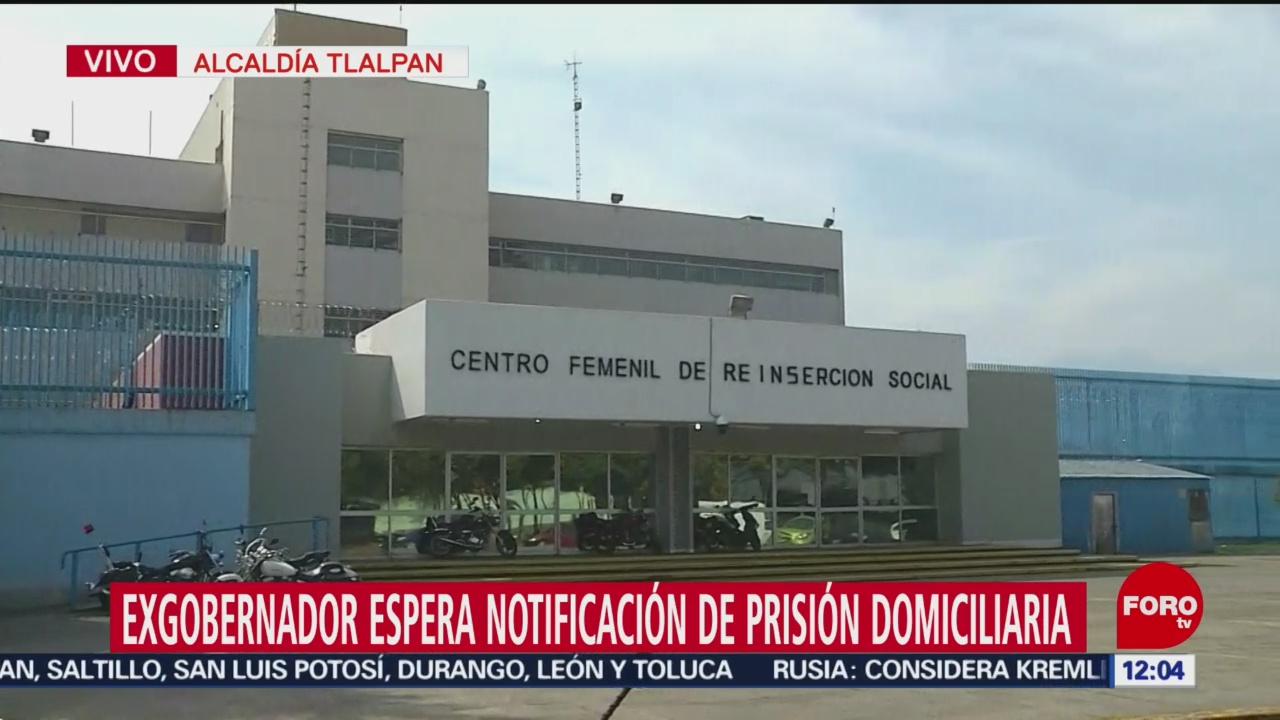 Granier espera notificación de prisión domiciliaria en Reclusorio Sur CDMX