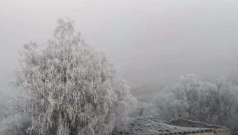 Prevén bajas temperaturas y heladas por frente frío 30 en la mayor parte de México
