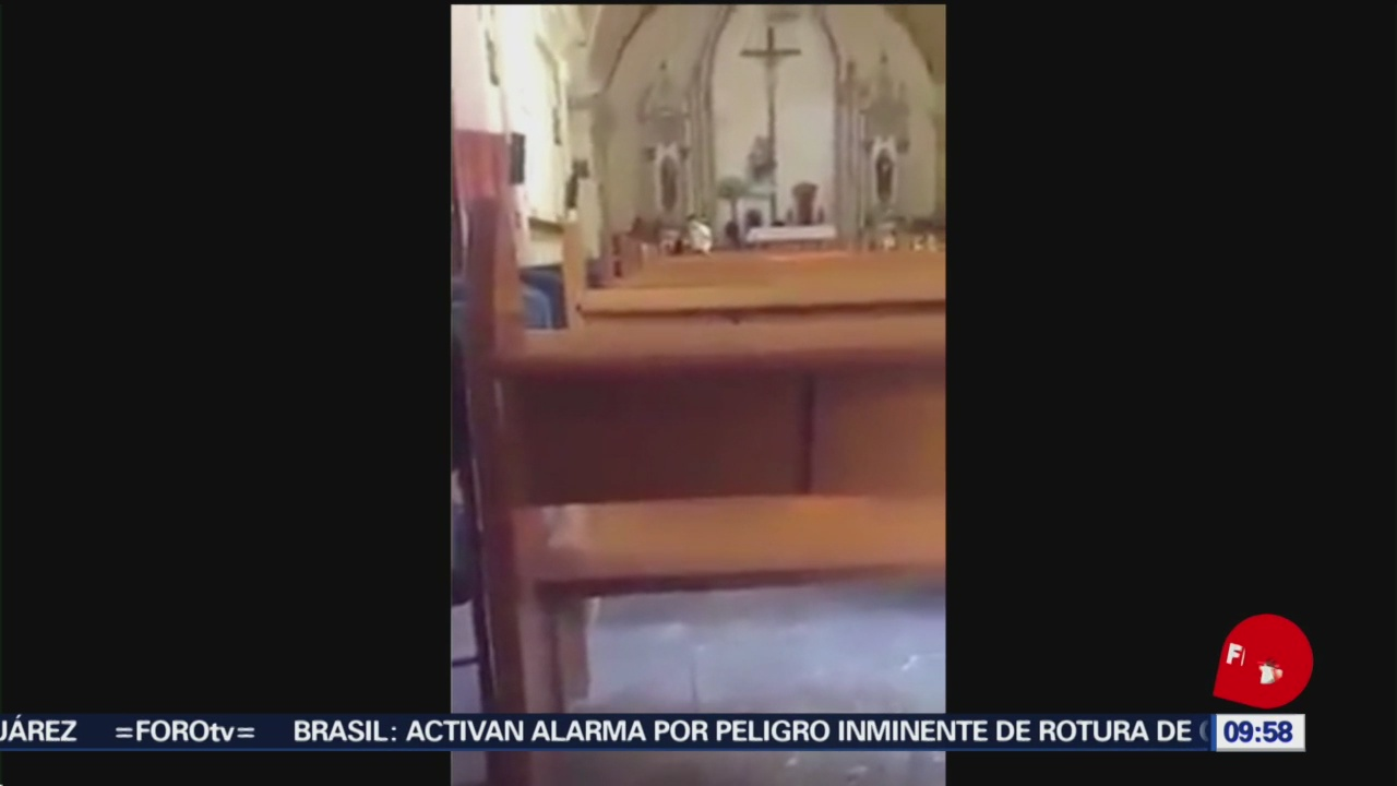 Foto:Hombre golpea a mujer en iglesia en La Paz, Baja California, 27enero 2019