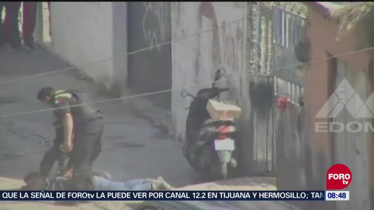 Detienen a dos por portación ilegal de armas en Ecatepec