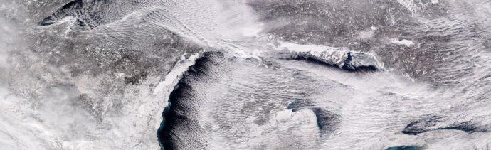 Foto: Fotografía tomada por el satélite NOAA-20 que muestra a Los Grandes Lagos afectados por el intenso frío, 31 enero 2019