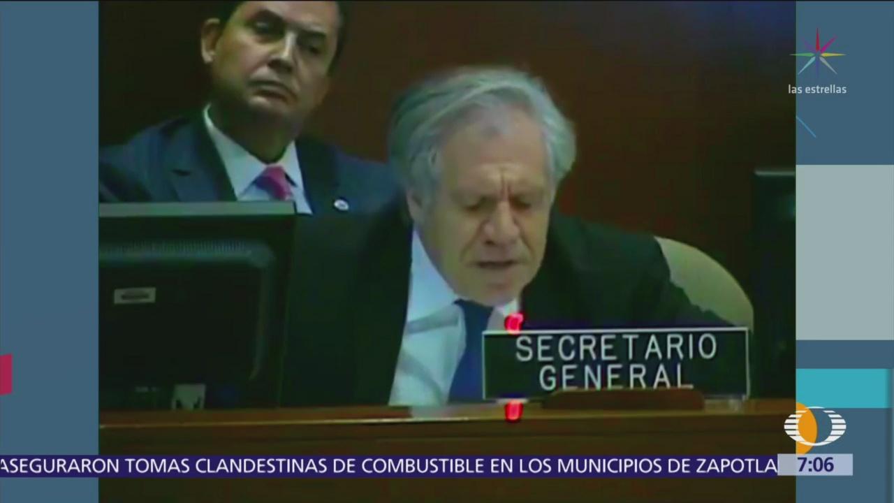 Luis Almagro dice que Maduro debe irse, dice que es ilegítimo
