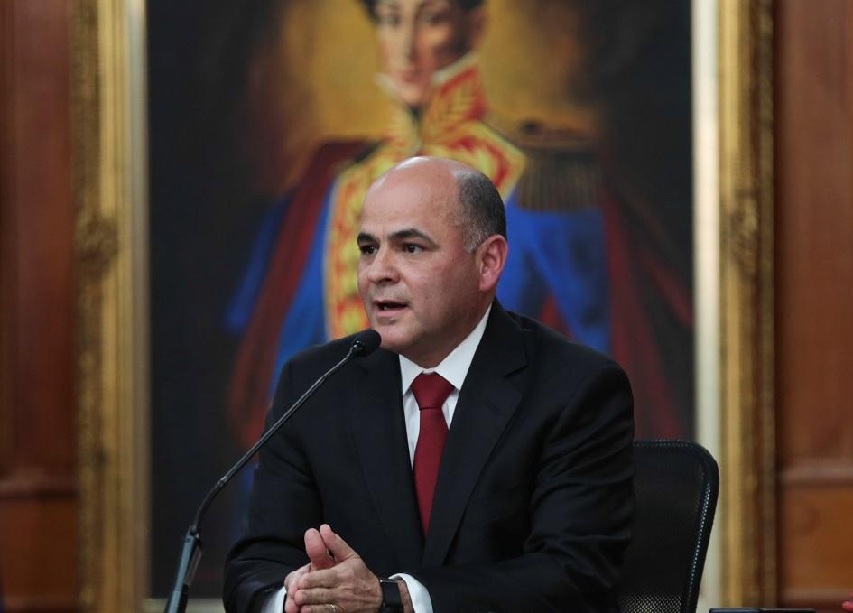 Foto: Manuel Quevedo, ministro de petróleo de Venezuela y presidente de la petrolera estatal venezolana, PDVSA en Caracas, Venezuela, 28 de agosto de 2018 (Archivo/Reuters)
