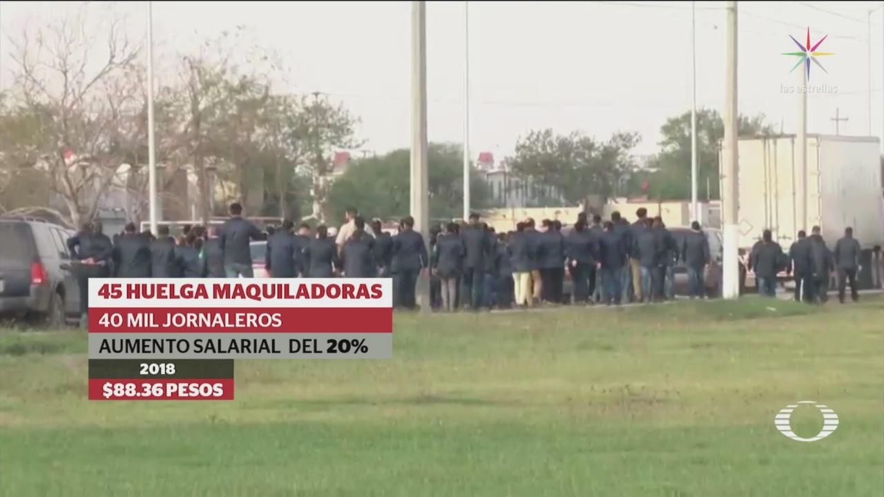 25/enero/2019, Maquiladoras en Matamoros, Tamaulipas, se van a huelga para exigir aumento