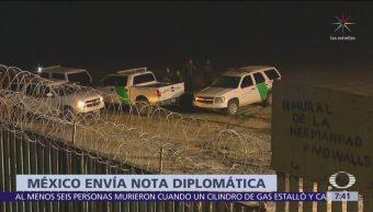 México envía nota diplomática a Estados Unidos por incidente con migrantes